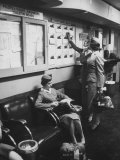 Stewardess Signing in for Flight Premium Photographic Print by Peter Stackpole