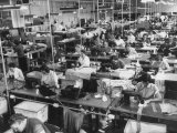 People Working in a Dress Factory Premium Photographic Print