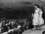"""French Models Giving Fashion Show at the Nieman-Marcus Store During """"French Fortnight"""" Premium Photographic Print"""