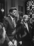 Ussr Nikita S. Khrushchev at Soviet Embassy for Talks with John F. Kennedy Premium Photographic Print