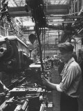 The Final Assembly Line, in a Plant Near Moscow Premium Photographic Print