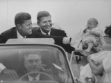John F. Kennedy and Gov. Terry Sanford Campaigning Premium Photographic Print