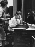 Attorney Gen. Robert F. Kennedy Working in His Office Premium Photographic Print