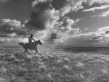 Michael Brennan on Ranch Horseback Riding Photographic Print by J. R. Eyerman