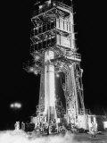 Redstone Rocket in Launching Stand Fotografie-Druck von Ralph Morse