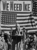 Dwight D. Eisenhower Speaking During Campaign Photographic Print