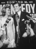 Edward M. Kennedy and Wife During Campaign for Election in Senate Primary Premium Photographic Print by Carl Mydans
