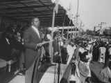 Pres. of Senegal Leopold Senghor Giving Speech on Independence Day Premium Photographic Print