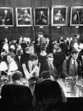 Oxford University Students Eating in Christ Church Dining Hall Premium Photographic Print