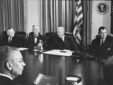 President Dwight D. Eisenhower with His Cabinet Premium Photographic Print by Ed Clark