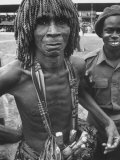 Procession of Ashanti Tribesmen in Honor of Queen Elizabeth Ii Premium Photographic Print