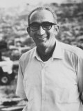 Farmer Max Yasgur Who Rented Farm to Woodstock Festival Premium Photographic Print