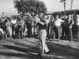 Pres. Dwight D. Eisenhower Playing Golf with George E. Allen Photographic Print by Ed Clark