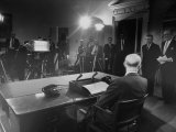 President Dwight D. Eisenhower Presenting His Farewell Address to the Nation Photographic Print by Ed Clark