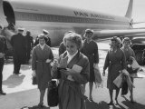 Pan Am Stewardesses in Frankfurt after Emergency Landing Photographic Print