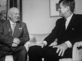 John F. Kennedy and Nikita S. Kruschev's First Meeting at Us Embassy Photographic Print