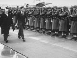 John F. Kennedy Upon Arrival for Talks with Ussr Khrushchev Photographic Print