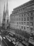Exterior View of Saks Fifth Ave. Department Store Premium Photographic Print by Alfred Eisenstaedt