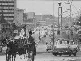 Djakarta's Main Avenue, Busy with Traffic Premium Photographic Print