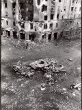 Street Scene in Budapest During First Aftermath of Fighting Against Soviet-Backed Regime Premium Photographic Print