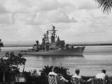 US Armed Forcese Destroyer Sullivan in Guantanamo Bay at the Time of the Cuban Missile Crisis Photographic Print