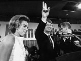 Senator Robert F. Kennedy and Wife Ethel Campaigning in Indiana Presidential Primary Premium Photographic Print