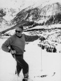 World Champion Emile Allais Ski Instructor at New Ski Resort Fotografisk tryk af Loomis Dean
