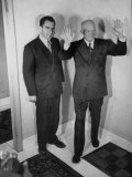 Richard M. Nixon Posing with Dwight D. Eisenhower, for Photographers Premium Photographic Print by Yale Joel