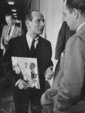 Lester Lanin During the Payola Scandal Hearings Premium Photographic Print by Ed Clark