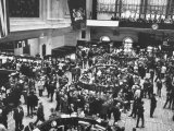 Frantic Day at the New York Stock Exchange During the Market Crash Premium Photographic Print by Yale Joel
