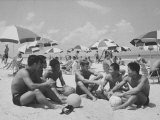 Korean and Americans Relaxing on Beach at Vung Tau Premium Photographic Print