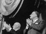 Soviet Nikita S. Khrushchev and Gamal Abdul Nasser Attending Bolshoi Ballet Performance Photographic Print
