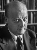 Good Portrait of Noted Theologian and Foreign Policy Conceptualist Reinhold Neibuhr Premium Photographic Print by Alfred Eisenstaedt