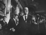 Sen. Lyndon B. Johnson Shaking Hands with Sen. John F. Kennedy as Robert F. Kennedy Watches Premium Photographic Print
