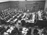 Scene in the Courtroom During the 3rd Day Session of the Nuremberg Trial Premium Photographic Print by Ralph Morse
