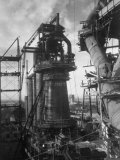 Under-Construction Blast Furnace at Magnitogorsk Metallurgical Industrial Complex Premium Photographic Print by Margaret Bourke-White