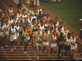 The Start of the 26 Mile Marathon at Summer Olympics Photographic Print