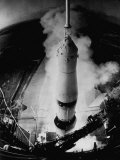 Launch of Saturn 5 Rocket at Cape Kennedy Photographic Print by Ralph Morse