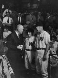 President Dwight D. Eisenhower at the Congressional Ball Game Premium Photographic Print