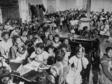 Over-Crowded African-American School Is Really a One Room Baptist Church Premium Photographic Print by Ed Clark