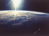 Sunlight over Earth Taken from Space Shuttle Discovery VIII Mission Photographic Print
