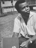 Nigerian Author of 'A Man of Many People' Chinua Achebe, at Home Near Lagos Premium Photographic Print by Carlo Bavagnoli