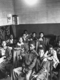 African-American Children in Segregated School Classroom Premium Photographic Print