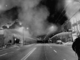 Chicago Firemen Combat Blazes During Race Riots Following Murder of Martin Luther King Jr Premium Photographic Print
