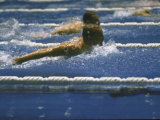 Unidentified Swimmers During the Butterfly at Summer Olympics Premium Photographic Print