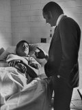 Sen. George Mcgovern Visiting Cesar Chavez Photographic Print