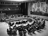 The Un Holding a Security Council Meeting Photographic Print by Lisa Larsen