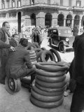 Tires for Sale in Black Market Photographic Print by Alfred Eisenstaedt