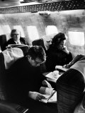 Robert F. Kennedy and Wife on Board Plane Premium Photographic Print