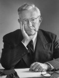 Portrait of Dr. Paul Tillich, Theology Professor at Harvard University Premium Photographic Print by Alfred Eisenstaedt